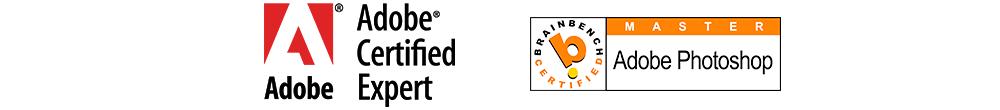 Adobe Certified Expert Logo, Brainbench Master Logo